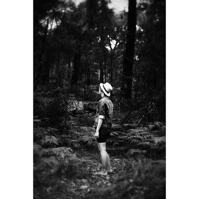 "Boy Nature Woods Intothewoods Outofthewoods Hat Black White Blackandwhite Gay Gayboy Gaysian Instagay Nationalpark Park Parkland Royalnationalpark ""they've got the cages they've got the boxes and guns. They are the hunters and we are the foxes and we run. Baby I know places we won't be found"""
