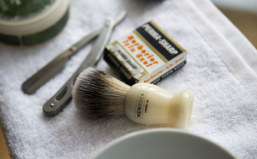 ready for a shave 2 Shaving Cut Throat Razor Wet Shave Close Shave Bristle Brush Hygiene Close-up