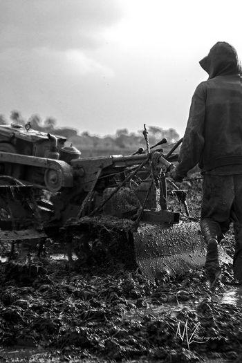 Contryside Hardwork Land Landscape Machine Man Mud
