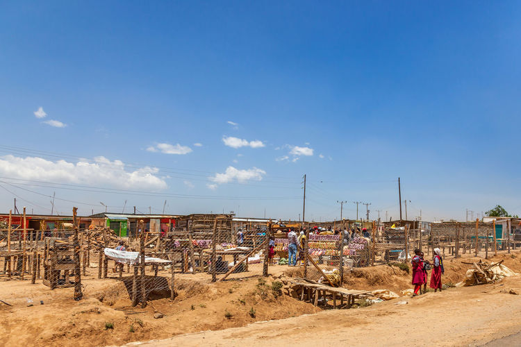 Market place in the kenyan countryside