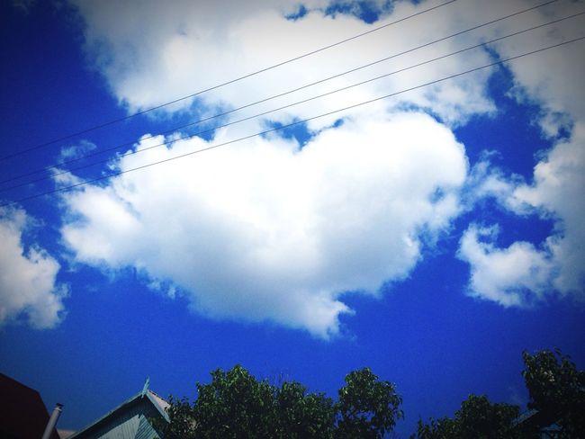 Cloud - Sky Sky Beauty In Nature Blue Heart