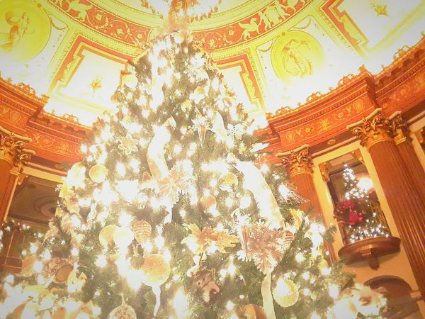 Low Angle View Ornate Indoors  Ohio, USA Ohio Cheerful Relaxation Christmas Tree Playhouse Square Happy Holidays!