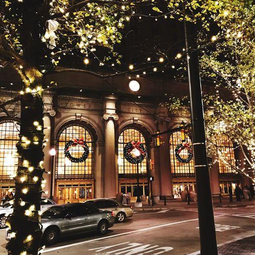 Illuminated Building Exterior Christmas Lights Christmas Decoration Christmas Time