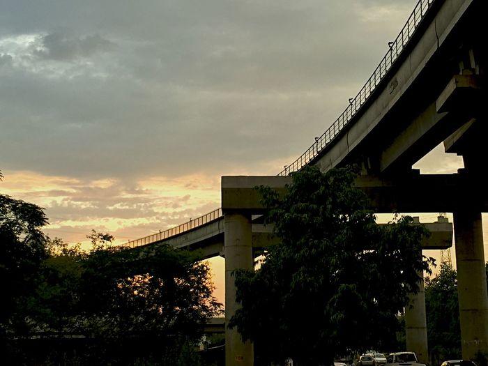 Iphonography Gurgaon Delhi Metro Evening Sky