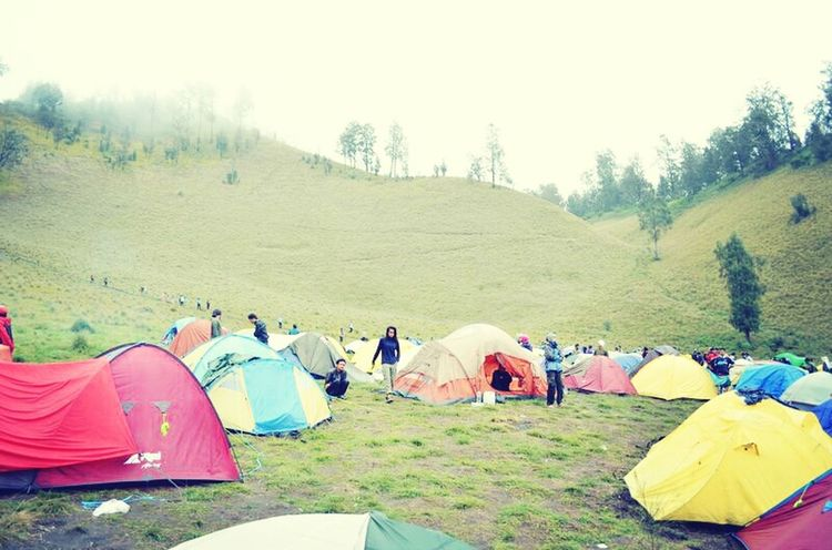 colorful tent Camp Ground Mountain First Eyeem Photo