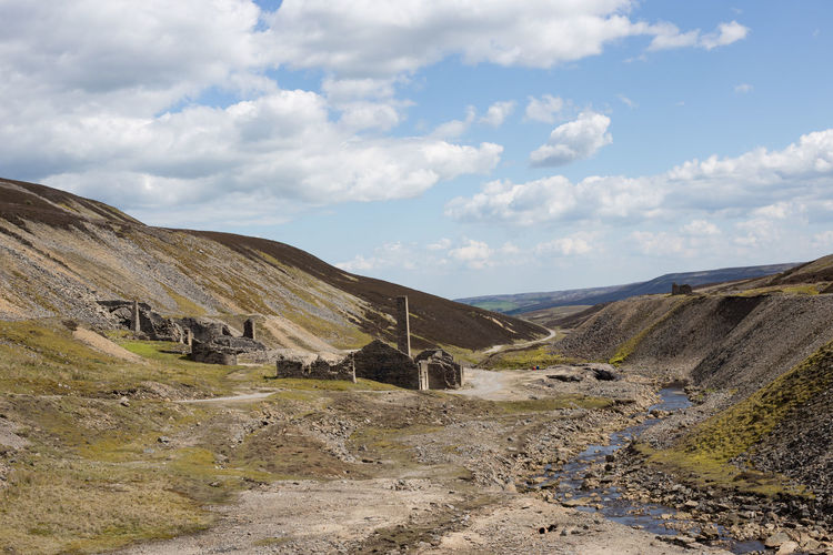 Old gang smelting mills near reeth in the yorkshire dales national park, north yorkshire, uk
