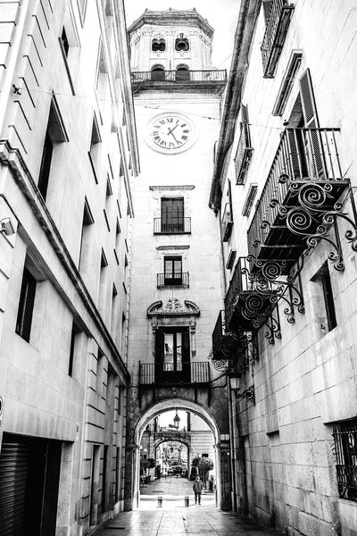 City Street Urban Photography Urbanphotography Urban Landscape Buildings Windows Architecturelovers Antique Building Between Buildings Street Photography Streetphotography Vintage Arquitecturestyle Architecture_collection Arquitecture Arch Alicante Alicante, Spain Watch Antique Watch Tower EyeEm Best Shots Balconies Bells Window