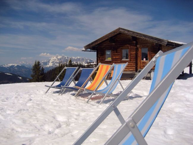 Apres Ski Mountains Sitting Powder Lift Winter Vacation Sunbathing Relaxing Hütte Skiing Sky Cloud - Sky Nature Snow Day No People Outdoors Tranquility Winter Vacations Scenics Beauty In Nature Landscape Cold Temperature