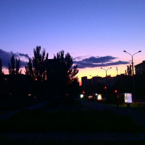 Люблю твои вечерние проспекты ... Mariupol Downtown evening sunset colorful sky endofsummer