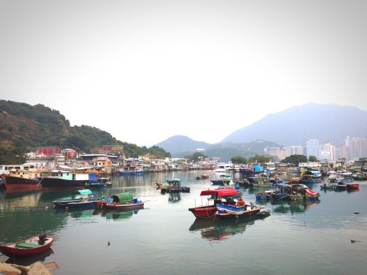 Fisherman Village HongKong Lei Yue Mun Fishing Village Nofilter Boats