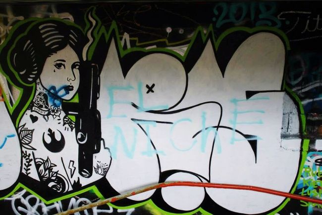Star Wars art. . . (Abandoned Miami Marine Stadium Key Biscayne, FL)