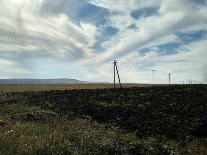 Hills Cultivated Technology Electricity Pylon Fuel And Power Generation Electricity  Rural Scene Sky Cloud - Sky Cultivated Land Agricultural Field Farm Farmland