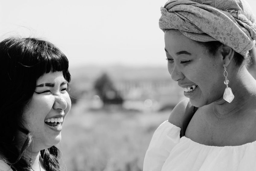 Woman Peace Bonding Friendship Woman Power Multi Racial Blackandwhite Portraitist-2018 EyeEm Awards Friendship Togetherness Headshot Childhood Bonding Happiness Close-up