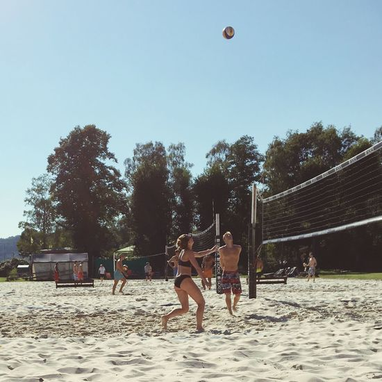 Summer Clear Sky Playing Enjoyment Beach Volleyball Beachphotography Beach Life Sun Fun Sports Active Outdoors This Is Germany