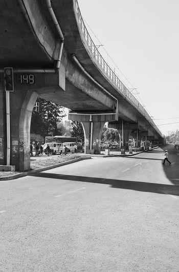 The City Light Architecture Transportation Bridge - Man Made Structure Day Outdoors Addis Ababa Phonecamera Black & White B&w Blackandwhitephotography Eyemphotos PhonePhotography