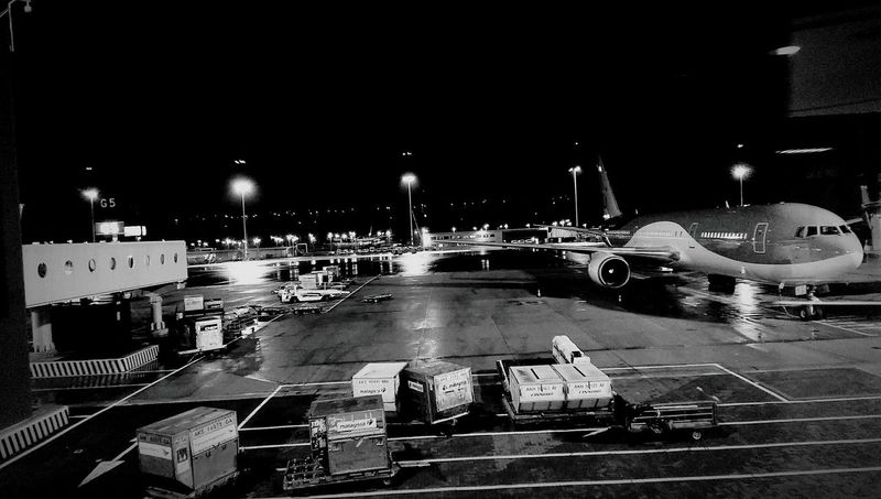 Shades Of Grey Schiphol By Night Plane