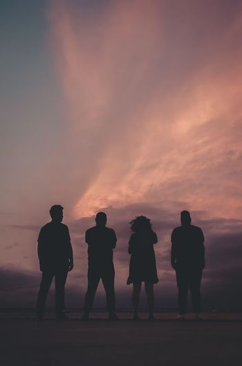 #banda Rock Banda Sunset Silhouette Standing Togetherness Men Sky Full Length People Real People Day Lifestyles Outdoors First Eyeem Photo