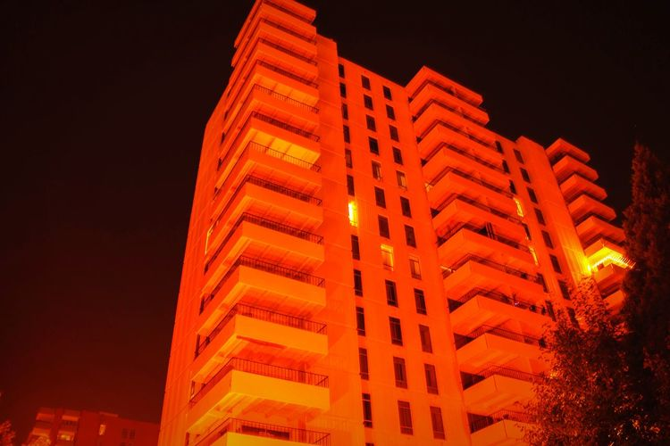 """""""Infernal tower of Cheesman"""" (2016) Denver, Co Apartments Cheesman Park Stylized Heavy Filtering Just For Fun Night Photography Nightmarish"""