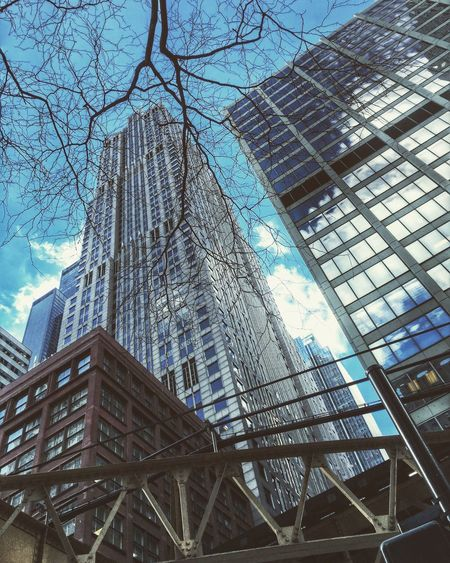 Skyscrapers IPhoneography Chicago Urbanphotography Walking Around Lookingup Architecture Chicagoloop Winter Visit Chicago In The Chicago Loop
