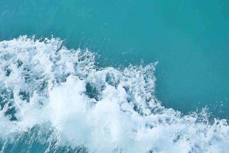 Water splashing in sea