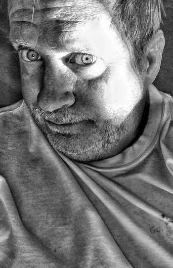 Close-up portrait of man