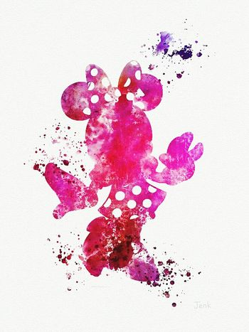 Minimouse Pink Watercolor Painting Ink Abstract First Eyeem Photo