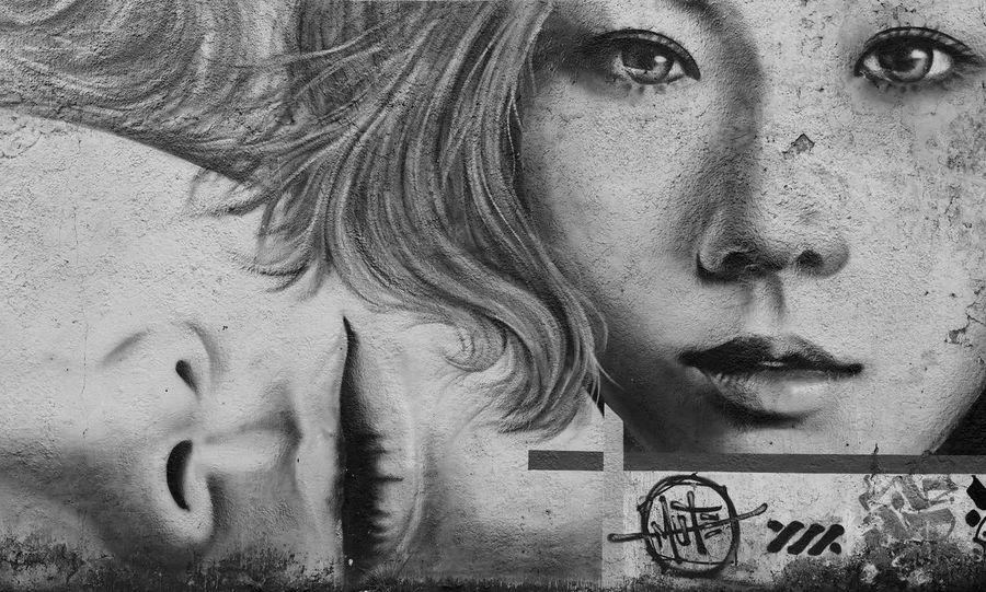 Portrait Outdoors Photograpghy  Streetart Street Photograpy Mural Mural Paintings Blackandwhite Photography Bwphotography Latepost The Street Photographer - 2017 EyeEm Awards