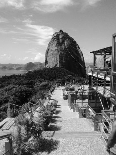 Monochrome Photography Water Sea Built Structure Architecture Building Exterior Sky Travel Destinations Tourism Tranquil Scene Tourist Resort Outdoors Scenics Tranquility Cliff Cloud - Sky Nature Harbor Vacations No People Bay Of Water