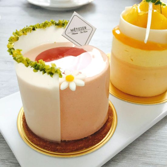 Cakes Tea Time French Pastries Strawberry Cake Mango Cake Colour Of Life