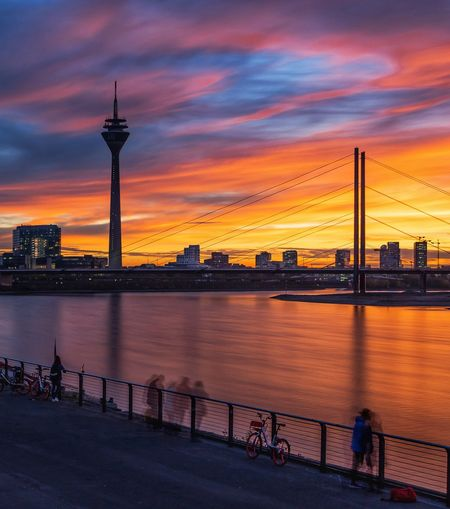 Autumn sunset Autumn Autumn colors Autumn Collection ND Filter Ndfilter City Urban Skyline Cityscape Illuminated Sunset Nautical Vessel Water Business Finance And Industry City Life Politics And Government Romantic Sky Dramatic Sky Moody Sky Sky Only Atmosphere