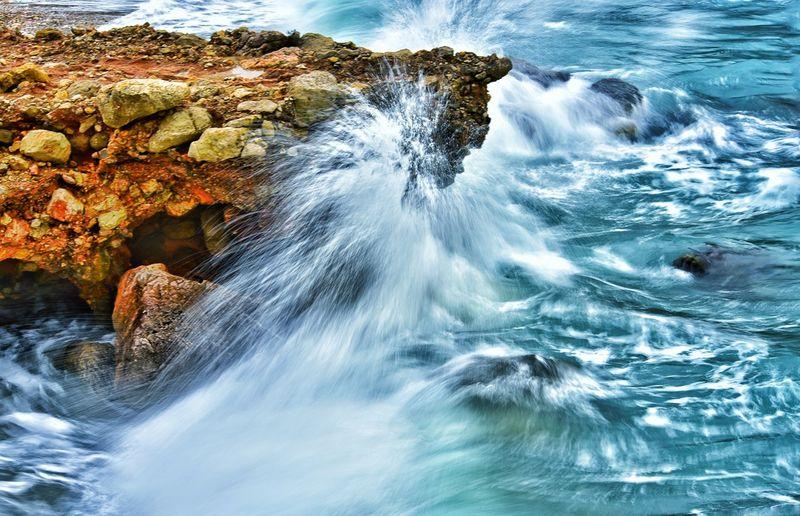 Scenic View Of Splashing Waves