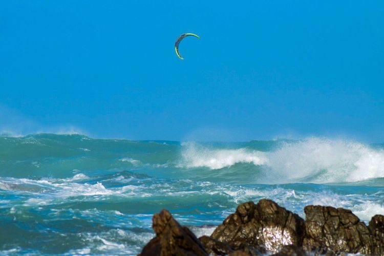 Kitesurfing Sea Nature Extreme Sports Water Horizon Over Water Beauty In Nature Sport Wave Adventure Scenics Leisure Activity South Africa Agulhas Kiting in the waves of Agulhas....