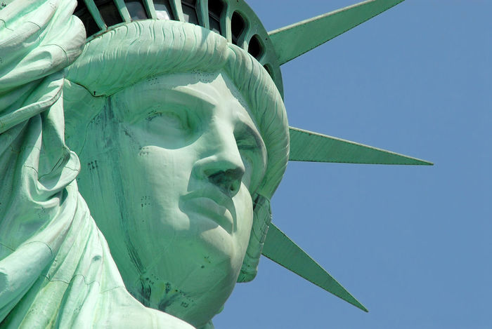 Statue of Liberty EyeEmNewHere Tourism Green Face Close-up New York Monument Symbol Freedom Statue Lady Liberty Statue Of Liberty