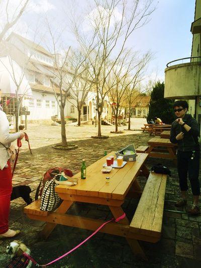 enjoying german beer with my friends!!!🍻☀️🐶👫 Enjoying Life Feeling Happy Withfriends Drinking Beer Beer Beertime