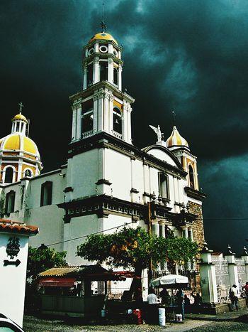 Comala Shadow Outdoors No People Mexico Church