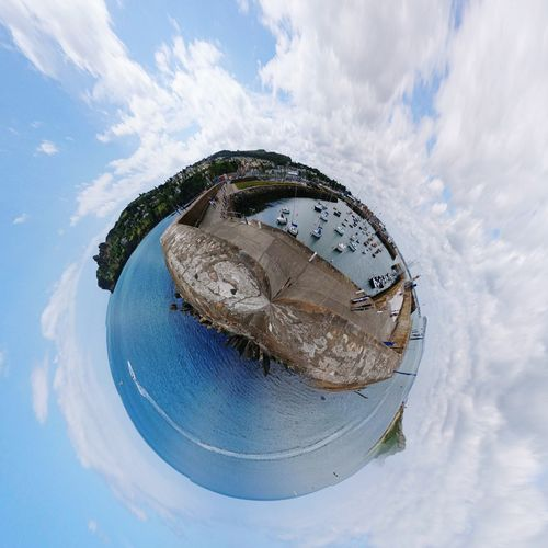 EyeEm Selects Cloud - Sky Sky Day Blue No People Outdoors Water Close-up (c) 2017 Shangita Bose All Rights Reserved Tiny Planet Howt Harbor Dublin, Ireland