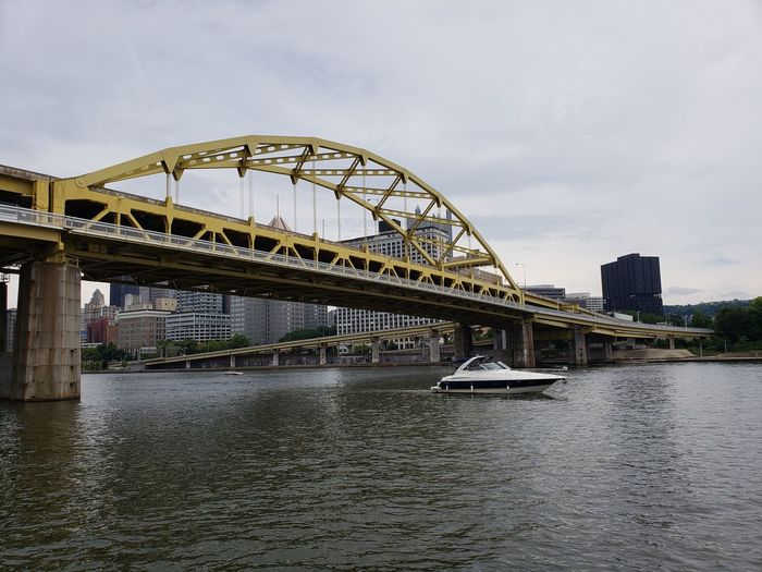 Nautical Vessel Pennsylvania Pittsburgh Tourism Pennsylvania Beauty Tranquility Tranquil Scene Business Finance And Industry Reflection City Cityscape Water Bridge - Man Made Structure Modern Architecture Building Exterior Built Structure Urban Skyline Office Building Skyscraper Downtown District Skyline Tall - High Calm River Arch Bridge Downtown Office Building Exterior Cable-stayed Bridge Building Story The Great Outdoors - 2018 EyeEm Awards The Traveler - 2018 EyeEm Awards The Architect - 2018 EyeEm Awards