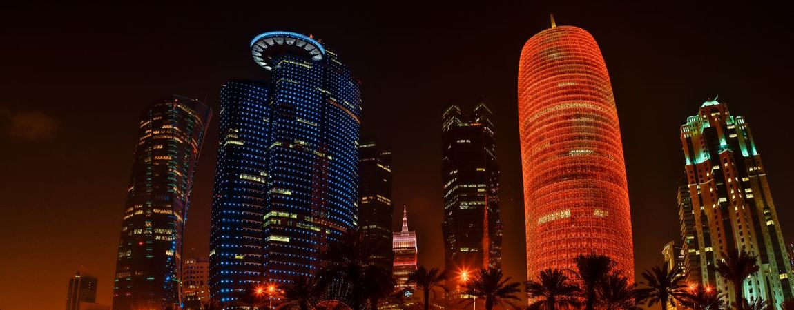 Skyline Night Illuminated Building Exterior Built Structure Architecture Low Angle View Building Tall - High Skyscraper Modern Tower Office Tourism Lighting Equipment Office Building Exterior City No People Travel Destinations Sky Outdoors