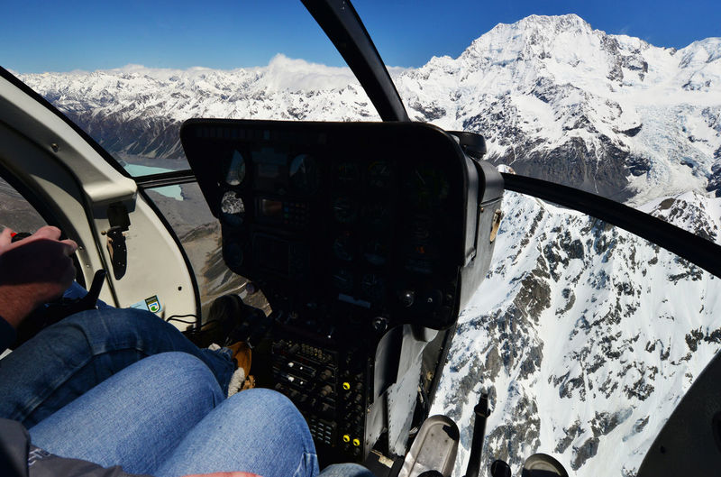 Mountains Seen From The Helicopter