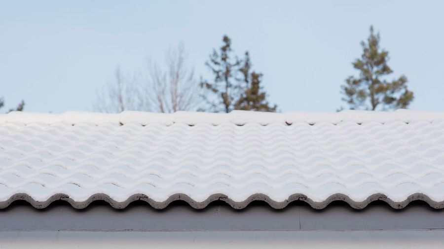 Close-up of roof against clear sky