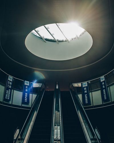 Indoors  Illuminated Architecture Low Angle View Ceiling Built Structure Lighting Equipment Steps And Staircases Technology Modern No People EyeEm Ready