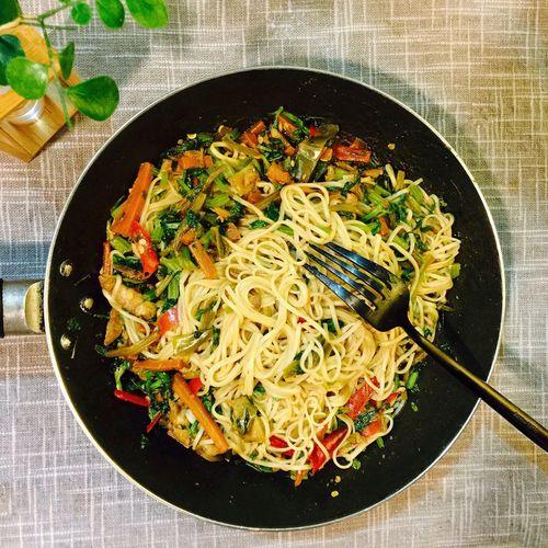 【❤️】今天炒个面😜 春子私房菜 一个人生活 手机摄影 美食 晚饭 夜宵
