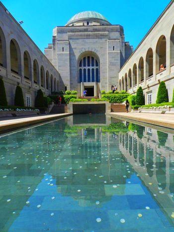 Canberra, ACT, Australia Architecture Australia Pool Reflection War Museum
