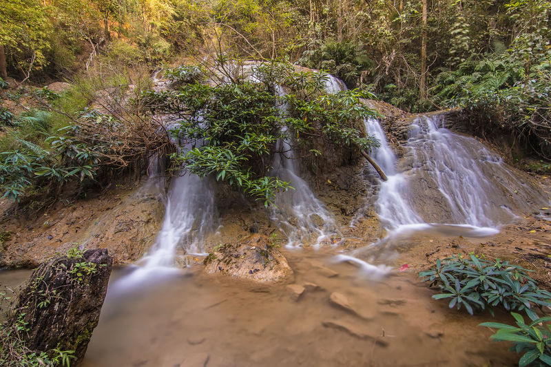 Beauty In Nature Day Forest Lampang | Thailand Long Exposure Motion Nature No People Outdoors Plant Scenics Tranquil Scene Tranquility Tree Water Waterfall