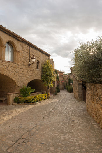 Catalonia Country Rural SPAIN Architecture Building Exterior Built Structure Cloud - Sky Day Girón Medieval No People Old Outdoors Peratallada Sky The Way Forward Tree
