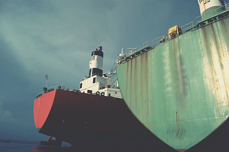 Sailing Ship Against Sky At Sky