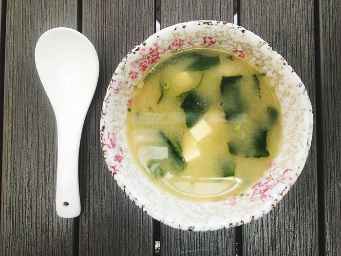 Soup Bowl Soup 10 Asianfood Miso Soup Food Food And Drink Freshness Table Directly Above Still Life Indoors  Ready-to-eat High Angle View Healthy Eating Wellbeing Eating Utensil