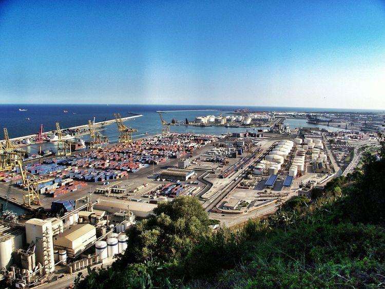 Urban Landscape Industrial Ships