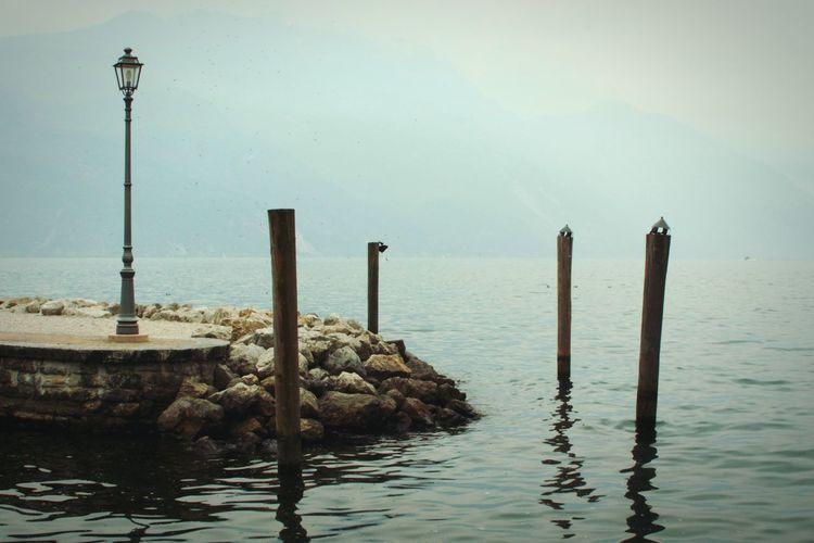Foggy Day Foggy Landscape Lake Garda Sad Atmosphere Photography