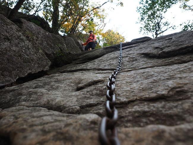 Climb Adventure Adventures Chain Cliff Climb Climbing Hike Hiking Homanzan Journey Life LINE Look Up Mountain Reach Rock Rope Sky To The Top Top Travel Yama EyeEmNewHere